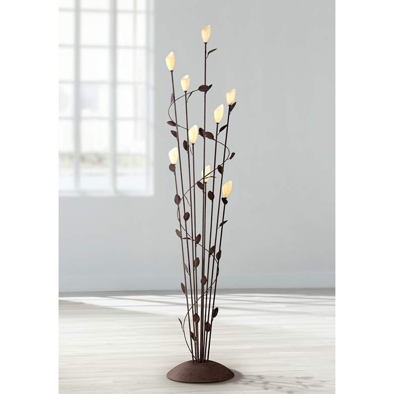 Arbor Twisted Vine 9-Light Rust Floor Lamp