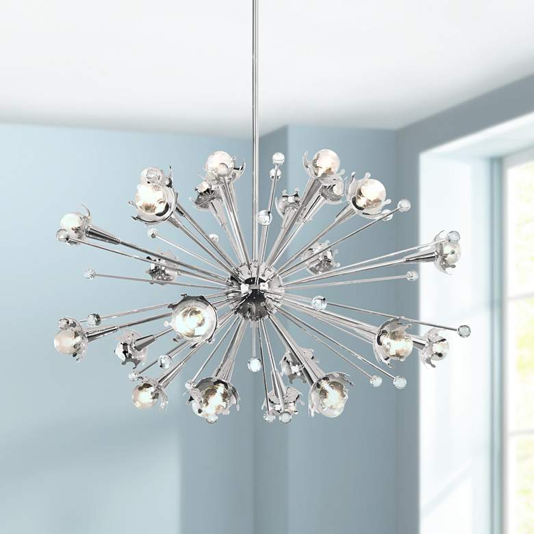 Jonathan Adler Sputnik 24 Light Polished Nickel Chandelier