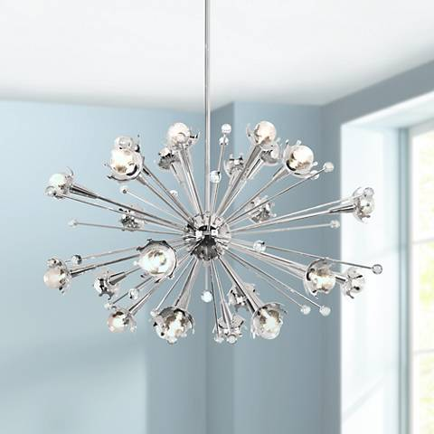 Jonathan Adler Sputnik 24 Light Polished Nickel Chandelier Y8208 Lamps Plus