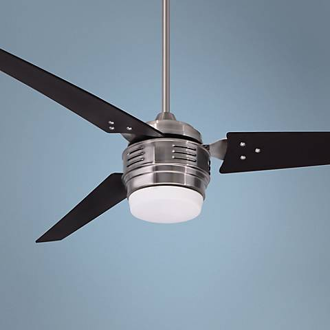 "60"" Emerson 4th Avenue Brushed Steel Ceiling Fan"