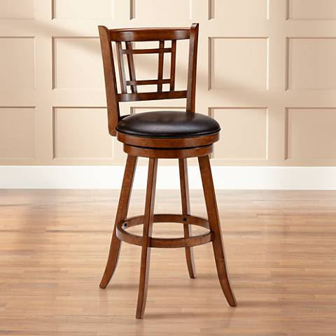 Hillsdale Fairfox 24 12 Brown Oak Swivel Counter Stool Y8731