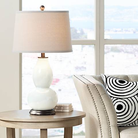 West Highland White Double Gourd Table Lamp