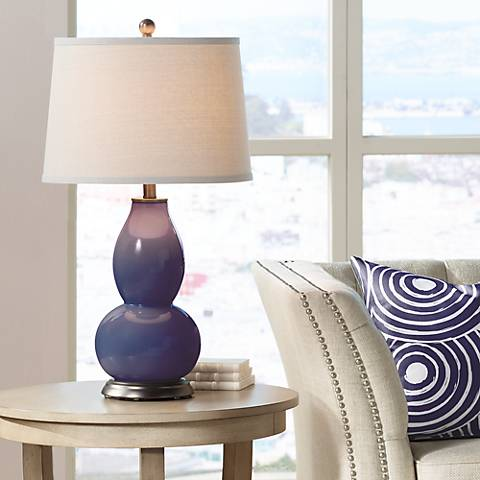 Quixotic Plum Double Gourd Table Lamp