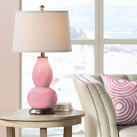 Haute Pink Double Gourd Table Lamp