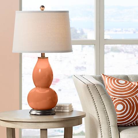 Robust Orange Double Gourd Table Lamp