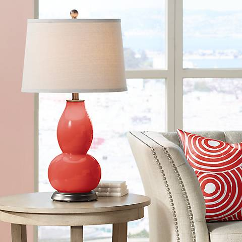 Cherry Tomato Double Gourd Table Lamp