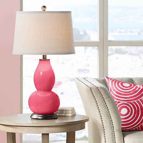 Eros Pink Double Gourd Table Lamp