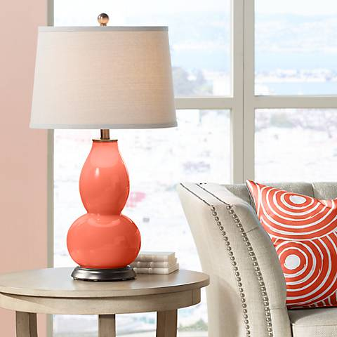 Daring Orange Double Gourd Table Lamp