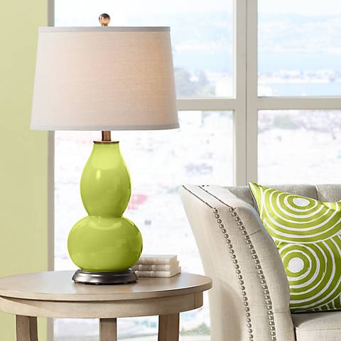 Parakeet Double Gourd Table Lamp