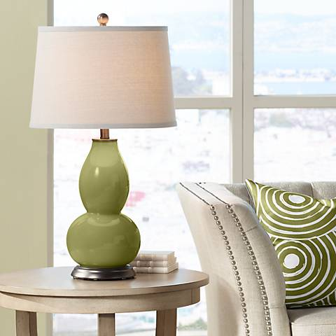 Rural Green Double Gourd Table Lamp