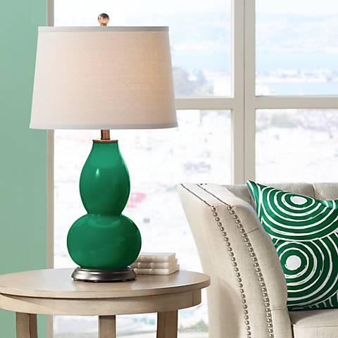 Greens Double Gourd Table Lamp