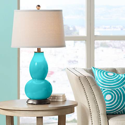 Surfer Blue Double Gourd Table Lamp