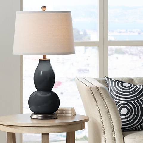 Black of Night Double Gourd Table Lamp