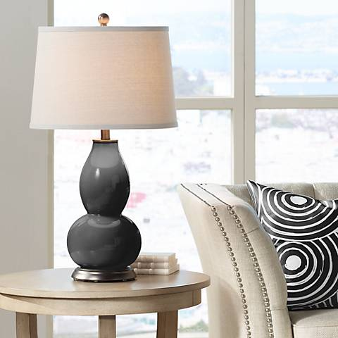 Tricorn Black Double Gourd Table Lamp