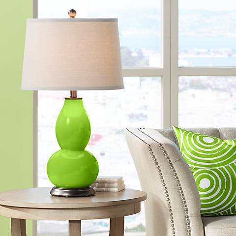 Neon Green Double Gourd Table Lamp