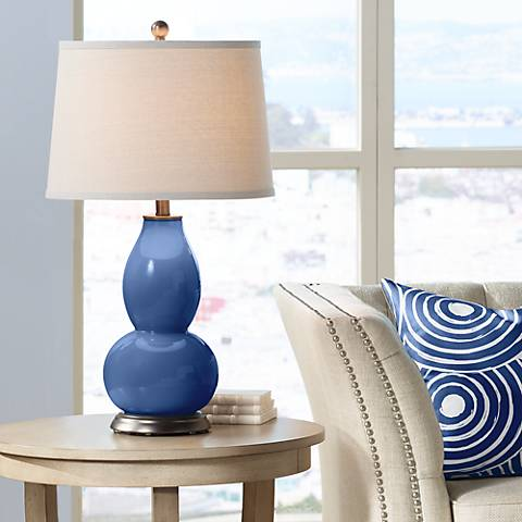 Monaco Blue Double Gourd Table Lamp