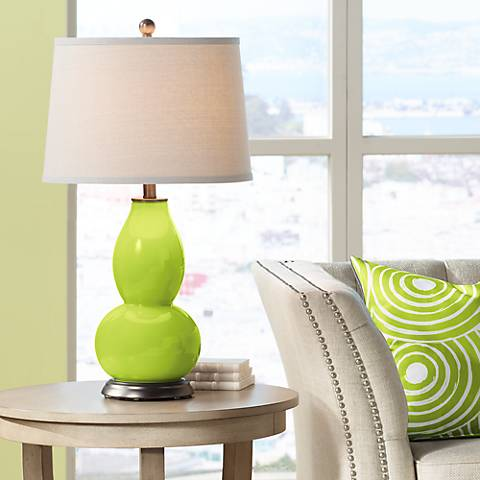 Tender Shoots Double Gourd Table Lamp