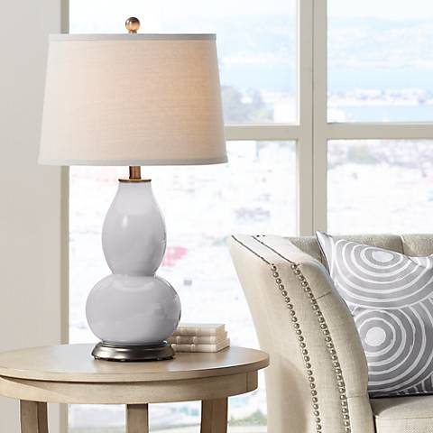 Swanky Gray Double Gourd Table Lamp