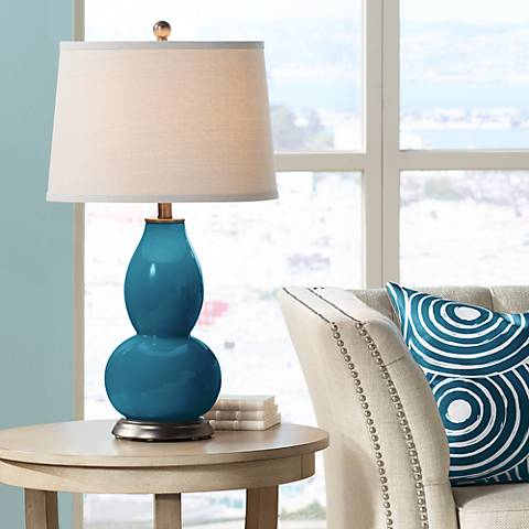 Oceanside Double Gourd Table Lamp