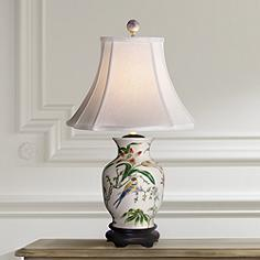 Ceramic porcelain table lamps lamps plus tulip vase porcelain table lamp mozeypictures Images
