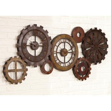 "Uttermost Spare Parts 54"" Wide Wall Clock"