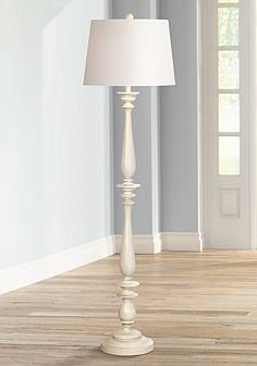 White ivory floor lamps lamps plus coastal turned base white floor lamp audiocablefo