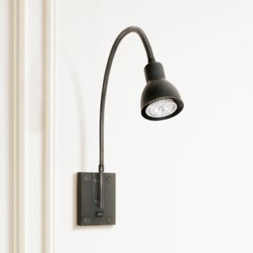 LED Dark Bronze Gooseneck Plug-In Swing Arm