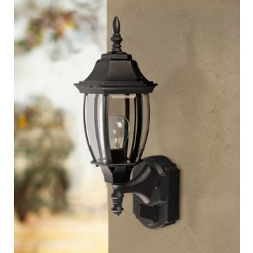 "Alexandria 18 1/2"" High Motion Sensor Outdoor Light in Black"