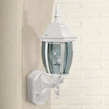 "Alexandria 18 1/2"" High Motion Sensor Outdoor Light in White"