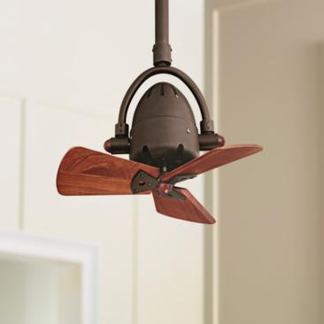 "16"" Diane Textured Bronze Wood Blades Ceiling Fan"