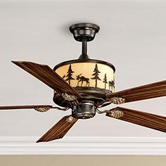 Vaxcel rustic lodge ceiling fans lamps plus 56 vaxcel yellowstone burnished bronze finish ceiling fan mozeypictures Image collections