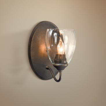 "Simple Lines Collection Water Glass 8 3/4"" High Wall Sconce"
