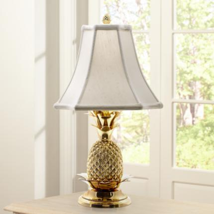Tropic Pineapple Brass Lighting Collection