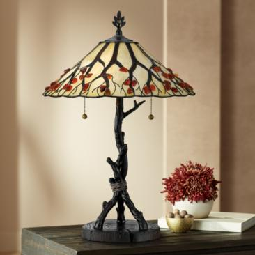 Quoizel Naturals Collection Whispering Wood Table Lamp