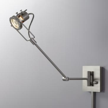 Single Spotlight Steel Plug-In Swing Arm LED Wall Lamp