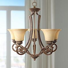 Mendocino Forged Sienna 5 Light Chandelier