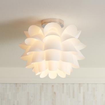 "Possini Euro Design White Flower 15 3/4"" Wide Ceiling Light"