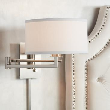 Possini Euro Aluno Plug-In Style Swing Arm Wall Lamp