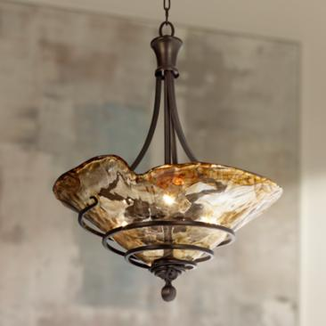 "Uttermost Vitalia 22 1/4"" Wide 3-Light Pendant Chandelier"