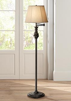 Bronze swing arm floor lamps lamps plus restoration bronze swing arm floor lamp by regency hill mozeypictures Image collections