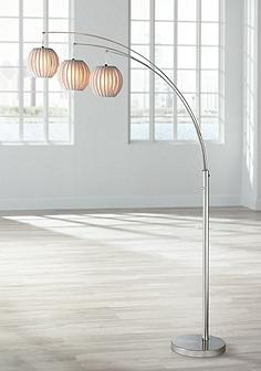 Arc floor lamps reading lights lamps plus lite source deion 3 light hanging arc floor lamp aloadofball Images
