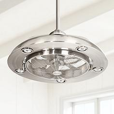 44 in span or smaller contemporary ceiling fans lamps plus possini euro segue 24 aloadofball Image collections