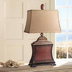 Uttermost living family room table lamps lamps plus uttermost pavia aged red woven texture table lamp aloadofball Gallery