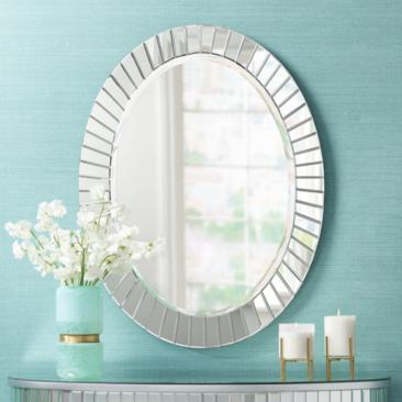 "Sunspot 25 1/2"" x 34"" Oval Wall Mirror"
