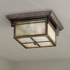 Outdoor flush mount lighting fixtures for patio or porch lamps franklin iron works hickory point flushmount light aloadofball Images