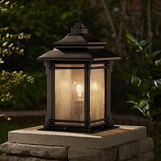 Outdoor post lights lamp post light fixtures lamps plus hickory point 16 12 mozeypictures Gallery