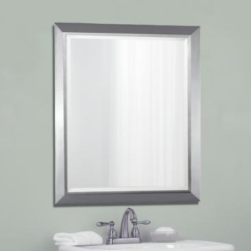 "Kichler Chrome 24"" x 30"" Rectangular Wall Mirror"