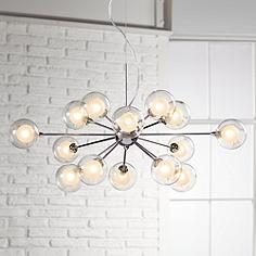 Contemporary pendant lights modern pendant lighting lamps plus possini euro design glass sphere 15 light pendant chandelier aloadofball Image collections