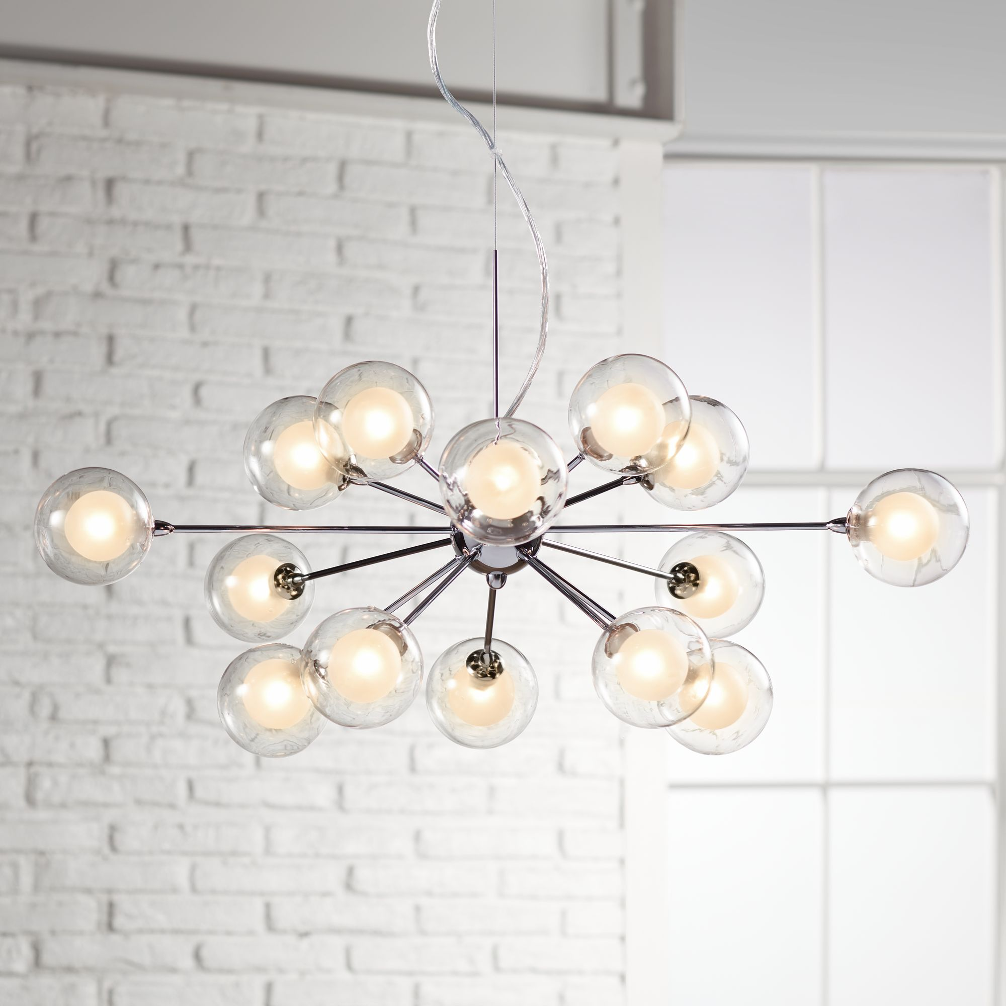 Possini Euro Design Spheres 15 Light Glass Pendant