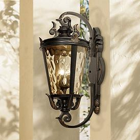 Large Outdoor Wall Lights Fixtures 31 In High And Up